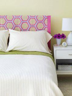 cabeceira de cama com tecido