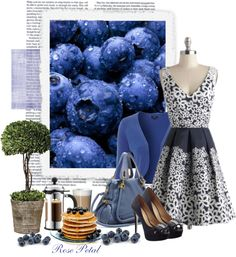 """~..A lover of every thing Blueberry ..~"" by white-rosepetal ❤ liked on Polyvore"