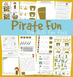 Free Pirate-Themed Early Learning Printable Pack