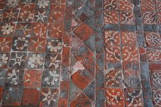 Medieval Tiles, Winchester Cathedral, UK