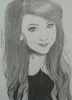 My drawing of Zoella! #zoella #zoesugg #drawing #instagram #facebookpage #magdabethart #realisticdrawing #portrait #artist #art #pencil