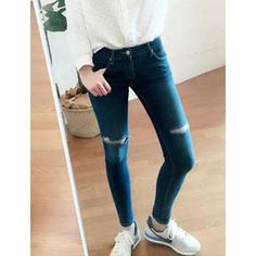 Buy 'VANILLA SECOND � Distressed Jeans ' with Free International Shipping at YesStyle.com. Browse and shop for thousands of Asian fashion items from South Korea and more!