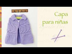 Capa con trenza doble tejida en dos agujas para niñas - YouTube