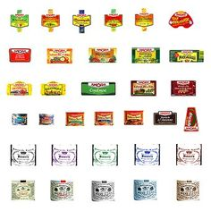 Food - Food  label printies   maybe, 8 different printies including boxes