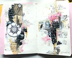 Welcome again! This time I would like to share with you my latest art journal page, called Several worlds ... I...