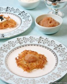 Potato Latkes, Recipe from Martha Stewart Living, December 2005