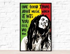 Song lyrics poster - 11 x 17 inches print on cardstock. -Bob Marley - Trenchtown Rock Made with love! Song Lyrics Art, Lyric Quotes, Bob Marley Lyrics, Reggae Art, Quote Posters, Fun To Be One, How Are You Feeling, Graphic Design, Rock