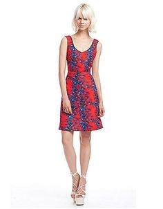 Floral Printed Sleeveless Dress | Lord and Taylor