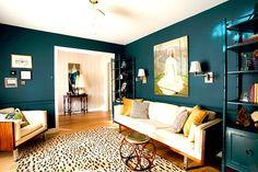 Aquamarinblau Wand-streichen Farbideen Farbgestaltung modern