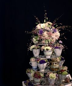 Retro Roses | What an amazing use for old teacups. I love th… | Flickr
