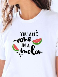You are one in a melon - Plotterdatei via Makerist.de Food T, One In A Melon, Vegan Clothing, Gifted Kids, Birthday Party Themes, Shirt Designs, Veganism, Silhouette Cameo, T Shirt