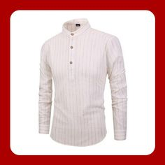 Just 3 bottoms for an awesome style with this slim fit shirt Stripped Shirt, Mandarin Collar, Workout Shirts, Cool Style, Slim, Awesome, Fitness, Mens Tops, Cotton