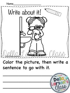 Getting ready for school writing prompts.  These visual writing prompts have all…
