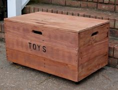 This Rolling Toy Chest makes a wonderful toy storage box for the kids in any room of your home as it can be wheeled around...This crate also offers handles on all four sides, so you can easily store it under another piece of furniture too. The lid easily lifts and closes with no finger pinching with interior center supports and finger pull on the top. Looney Bin Crates are made from Recycled Shipping Pallet Wood. This reclaimed wood has beautiful character while being Eco Friendly…