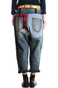 boyfriend style patchwork jeans - JUNYA WATANABE