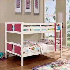 two toned bunk beds