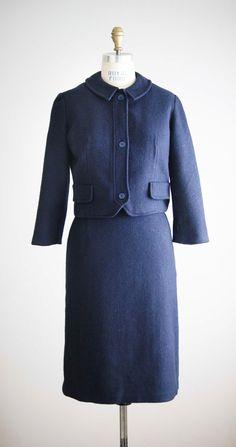 1950s LIBERTY wool tweed skirt suit