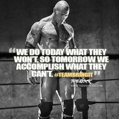 """Dwayne Johnson aka """"The Rock"""" is a huge inspiration to millions world-wide. Here are some of the best motivational picture quotes and sayings by Dwayne Johnson. Training Motivation, Fit Motivation, Fitness Motivation Quotes, Motivation Inspiration, Motivation Pictures, Style Inspiration, Dwayne Johnson Quotes, The Rock Dwayne Johnson, Rock Johnson"""
