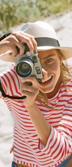 stripes in the sand Red Beach, Summer Breeze, Summer Vibes, Jim Morrison, Madame, Style Guides, Beachwear, J Crew, Fashion Looks