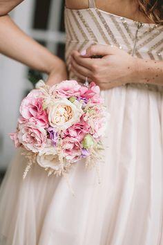 Romantic & Blush Bridesmaid Bouquet, Floral: Life in Bloom, Photo: Codrean Photography