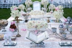Sofreh Aghd by Bits and Blooms Inc. at Graydon Hall Manor, Toronto Iranian Wedding, Persian Wedding, Wedding Table, Wedding Ceremony, Graydon Hall Manor, Wedding Styles, Wedding Ideas, Wedding Decorations, Table Decorations