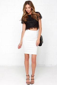 7e59afd7ae853 Happy as a Glam Black Lace Crop Top
