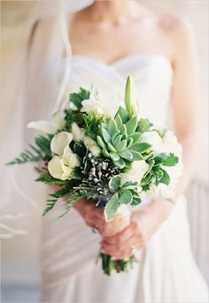Beautiful bouquet with perfect succulent. Captured By: Ardent Photography #wchappyhour #weddingchicks http://www.weddingchicks.com/2014/09/16/ardent-photography/