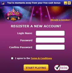 Play Bingo Games - Big Top Casino