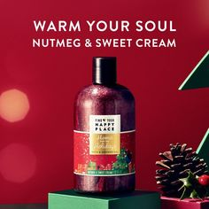 Find Your Happy Place Indulgent Bubble Bath And Shower Gel, Home For The Holidays, Nutmeg And Sweet Cream, 12 fl oz - Walmart.com - Walmart.com