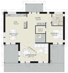 Onyxen - Fiskarhedenvillan Floor Plans, Modern, Pictures, Floor Plan Drawing, House Floor Plans