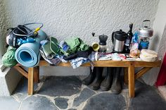 Packing for a bicycle micro adventure - everything in miniature @vangooutdoor one man tent!