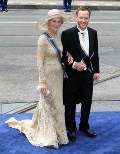 Princess Irene van Lippe-Biesterfeld  & Carlos Prince de Bourbon de Parme, her oldest son