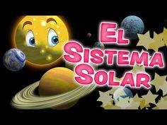 El SISTEMA SOLAR para niños - Los Planetas en inglés y español - YouTube