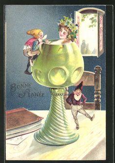 Art Nouveau Gnome lamp | Gnomes | Pinterest | Gnomes ...