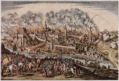 Bautzen circa 1620, by Matthäus Merian-Thirty Years' War-siege and capture of Bautzen by the Elector of Saxony, John George I,(1585-1656)