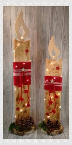 Fabric Crafts All sorts of creative things made of wood, fabric, decoupage, paper, pearls and v … Grinch Christmas Decorations, Christmas Fairy Lights, Christmas Wood Crafts, Ribbon On Christmas Tree, Christmas Yard, Farmhouse Christmas Decor, Christmas Mantels, Outdoor Christmas, Christmas Projects