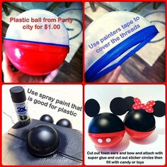 So easy to make! Mickey party for my son Ben
