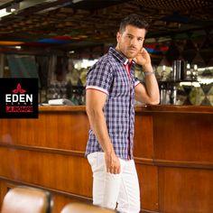 Las camisas de cuadros son una muy buena elección, siempre que sepas cómo combinarlas. Abotonada para una pinta más formal o abierta para lucir más fresco ¿cuál prefieres? 👊  Arma la pinta con #EDENJeans www.edenjeans.com.co  #EdenLaRompe #ModaMaculina