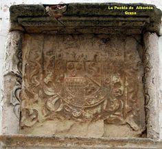 Escudo de los Infanzones de la Familia Ordovás ¿o Grassa? en La Puebla de Albortón, en la casa que habita desde hace muchas generaciones de Infanzones de la familia de los Ordovás. La Puebla de Albortón 01.jpg