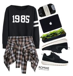 """""""#romwe"""" by credentovideos ❤ liked on Polyvore featuring NIKE, Cassia, women's clothing, women's fashion, women, female, woman, misses and juniors"""