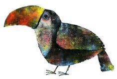 tucán, ilustración de Yusuke Yonezu Cute Animal Illustration, Graphic Illustration, Animal Art Projects, Gelli Arts, Rare Birds, Art Courses, Happy Art, Whimsical Art, Illustrations