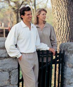 Because buccaneer shirts look good on everyone, not just Errol Flynn and Tyrone Power.  And Deva Lifewear is wonderful.