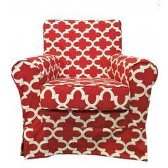 IKEA Ektorp Jennylund Chair Slipcover From Knesting.com In Cardinal Fynn  Print