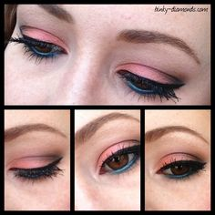 peach and teal eye combo