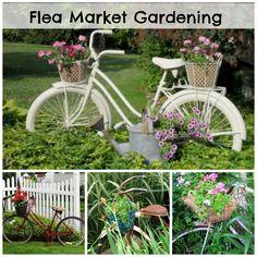 Pedals and Petals - Garden Bikes from Flea Market Gardening.