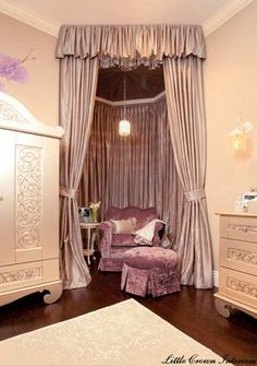 What a precious corner for mom and baby : Baby Nursery Themes