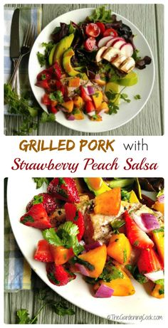 This grilled pork with strawberry peach salsa is a really fast ...