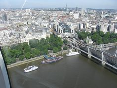 A view from the London Eye.