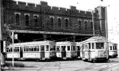 Fort  Macquarie tram depot. Sydney. Australia. 1950s by rangertocpt, via Flickr