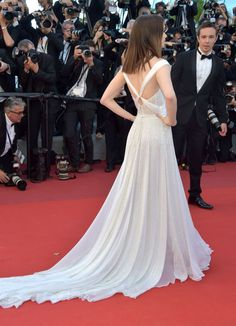 #LilyCollins in #Ralph&Russo Couture - 2017 Cannes Film Festival